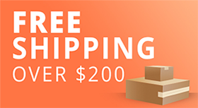 free shipping on purchases over 200$